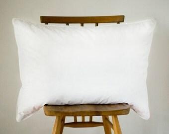 Duck Feather Pillow Cushion Insert 50cm x 75cm 19x29 inches -pillow pad -cushion pad -cushion inner -rectangular pillow form -cambric cotton