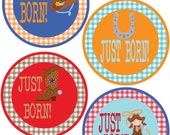 ADD ON Just Born Stickers for Baby, Just Born Stickers  - Cowboy - Just Born Stickers -Baby Shower Gift - Baby