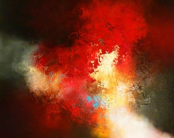 """Large Canvas Abstract Painting by Artist Simon Kenny """" Pulse"""""""