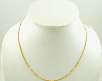 "10 Bright Gold Plated BALL CHAIN Necklaces, lobster clasp, 16"" long, 1.5mm  fch0084"