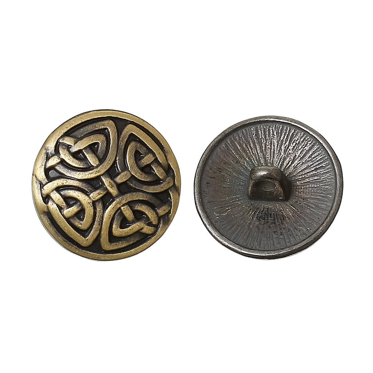 6 bronze metal round carved shank buttons for jewelry making for Buttons with shanks for jewelry