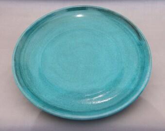 Turquoise Pottery Plate - Handmade Earthenware