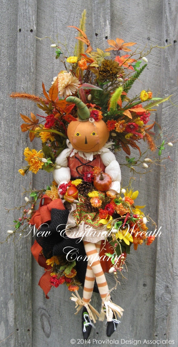 Sale Fall Wreath Fall Swag Autumn D Cor Harvest Halloween