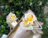 Wedding Shoe clips Elegant topaz