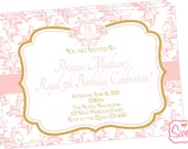 Royal Princess Party Invitation-Printed