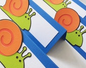 Playful Snail Food Tags Place Holder Set of 12 By Your Little Cupcake