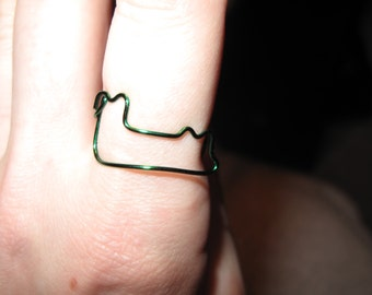 Wire Wrapped Alligator MADE to ORDER Adjustable Ring