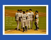 CUSTOM LISTING:  Additional Shipping, Priority Mail, New York Yankees Birthday Card, Funny Birthday Card, Baseball, Meeting on the Mound