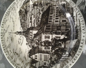 collectible Carlsbaad plate made in Czechoslovakia