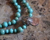 Turquoise Blue Flower Necklace