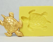 Sea turtle SS139 - Flexible Silicone Mold - Crafts, Jewelry, Resin, PMC, Soap, Food, Scrapbooking, Polymer Clay, Push Mold