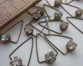 Vintage Crystal Triangular Drop Finding