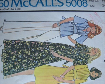 McCALL'S Pattern 5008 Misses' Dress or Top and Pants    1976