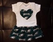 Philadelphia Eagles Onesie Dress