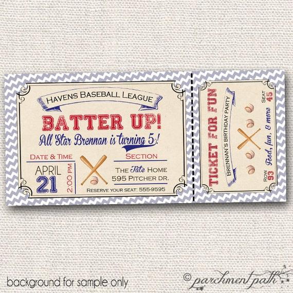 Vintage Baseball Birthday Invitations: Vintage Baseball Birthday Invitation By Parchmentpath On Etsy