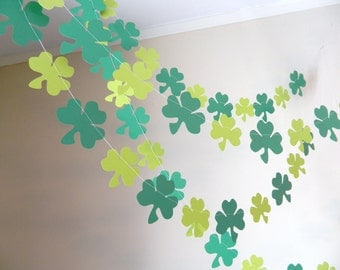 St Partrick's Decorations - 6 foot Shamrock Garland- St Patricks Day Decor- St patty's Garland-Irish Decorations-Photo prop