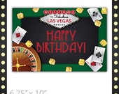 Casino Party Sign - Lucky Draw . Happy Birthday ~ Casino Birthday Sign, Casino Sign, Casino Night Sign, Casino Party Banner, Casino Event