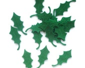 Felt holly leaves die cut felt arts and crafts felt shapes christmas crafts green leaves christmas felties
