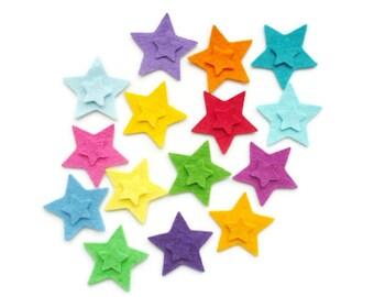 Felt star shapes die cut from wool felt geometric shapes 30 Die cut star