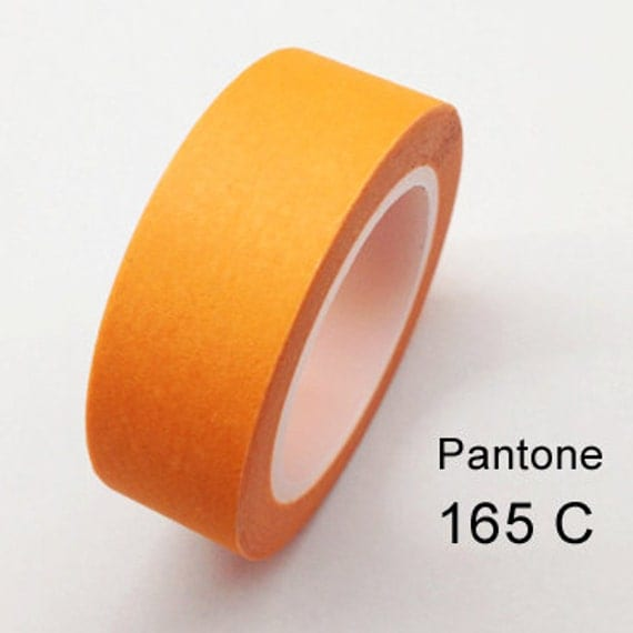 Solid Orange Pantone 165 C Washi Tape 11 yards by ...