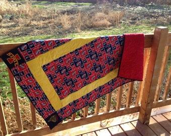 Collegiate Minky crib quilt