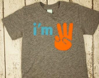 I'm this many shirt i'm 3 i'm 2 etc can be customized for any birthday colors etc boys birthday shirt girls birthday