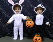 Bunny or Panda Halloween Costume for American Girl Dolls