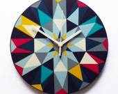 Kaleido - clock in Dark Multi colours