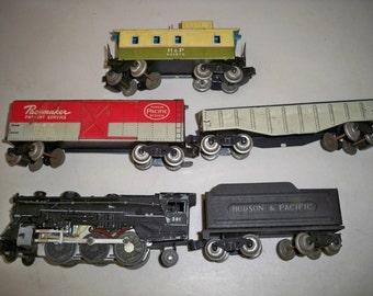 """Rare Vintage 1950's Sakai """"O"""" Gauge Train Set"""