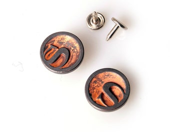 10 sets 20mm buttons  denim  No Sew  jeans tack buttons Copperish button fastener with manual -Superman