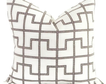 Celerie Kemble Bleecker Bear Decorative Pillow Cover, Square or Lumbar pillow - Accent Pillow, Throw Pillow
