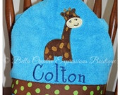 Giraffe Hooded Towel (other colors available for towel)