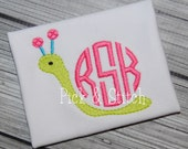 Mini Snail Monogram Frame Embroidery Design Machine Embroidery INSTANT DOWNLOAD