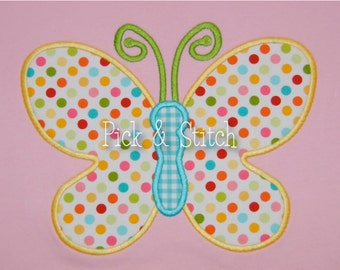 Butterfly Applique Design Machine Embroidery INSTANT DOWNLOAD