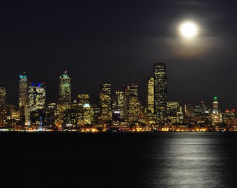 Seattle 12th Man Skyline Photograph 8x10