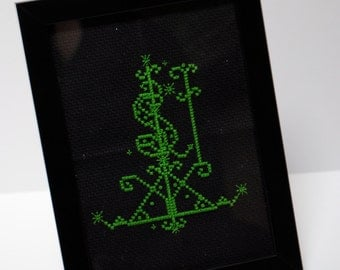 Ogoun Voodoo Veve Cross Stitch PDF Pattern