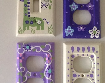 Custom Painted Lightswitch and Outlet Cover Plates - Price Per Cover