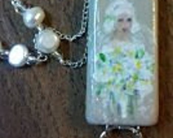 Hand Painted Bride Necklace