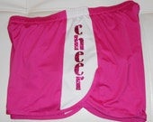 Custom Lined Mesh Running Shorts with Glitter Letters