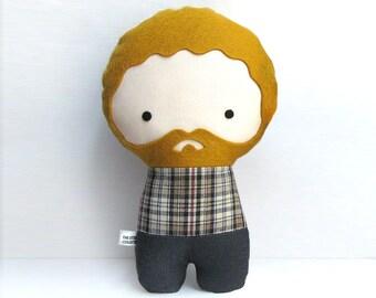 Handmade Personalized plush doll. Stuffed toy. Custom doll. Customize.