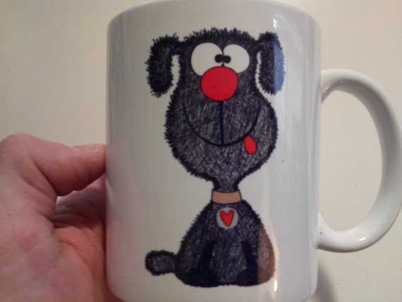White Mug with Cute Black Poodle Puppy for Little Children Mug Print Shirt options