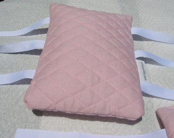 Armrest Cushions--Fit most chairs--arm rest ArmCushies--Fit IKEA Poang chair--Light baby pink--1 Pair