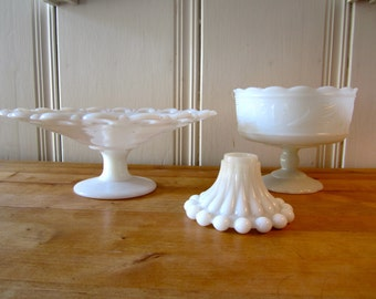 A Vintage Instant Collection of Milk Glass