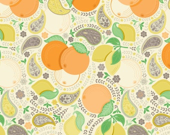 Clementine - Blossom Ivory Cotton Print Fabric from Blend Fabrics