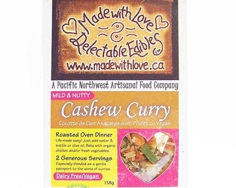 Cashew Curry Magic Meal - Roasted Oven Dinner Mix  for Two - Easy Real Whole Food Fast - Food Market