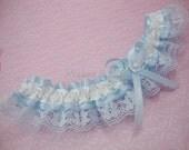 Blue Lace Garter, Blue Garter, Blue Bridal Garter, Wedding/prom Garter