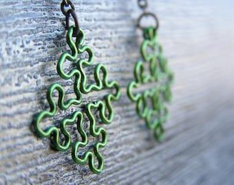 Fractal Jewelry - Cesaro Earrings in Apple Green