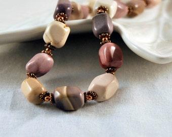 Mookaite Jasper and Copper Necklace