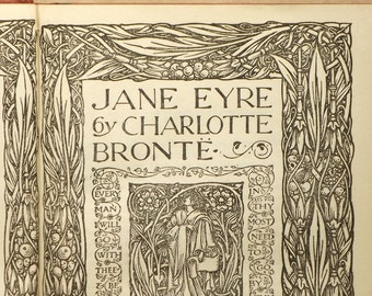 vintage Jane Eyre book by Charlotte Bronte