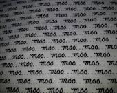 Destash - Black and White Moo Fabric